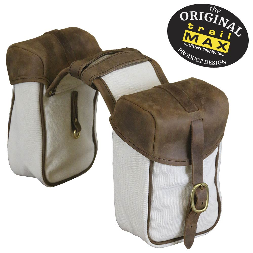 TrailMax Canvas and Leather Pommel/Saddle Horn Bags