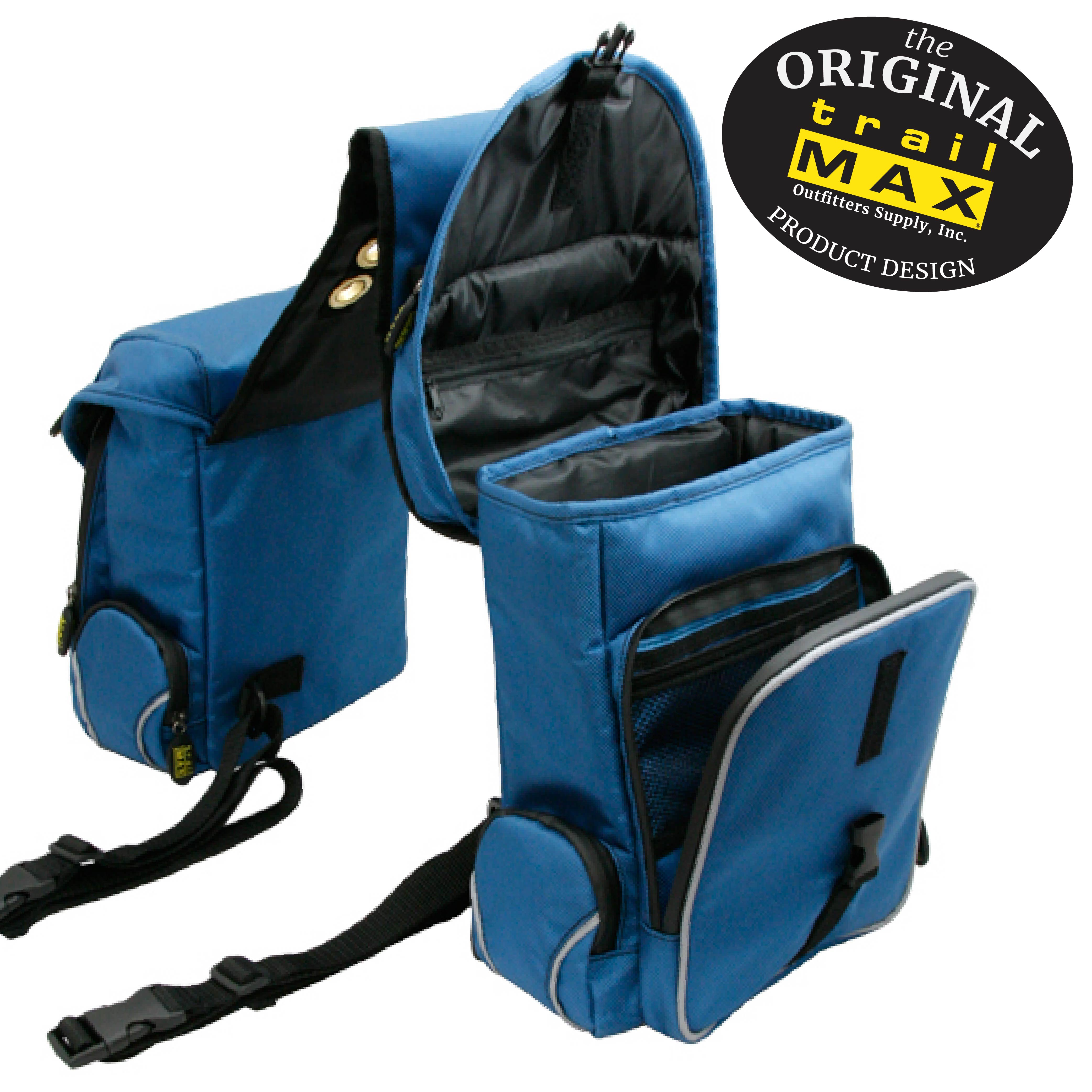 Lava Red /& Black Outfitters Supply in Black /& Sand Glacier Blue /& Frost TrailMax 500 Series Insulated /& Padded Back Pocket Saddlebags for Trail Riding 1680-denier Ripstop Nylon with PVC Water Resistant Coating