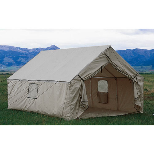 Wall tent floor gurus floor for Canvas platform tents