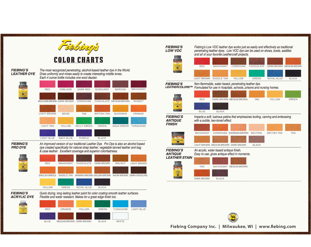 Fiebingcolorchart2012g fiebing leather dye color chart geenschuldenfo Image collections