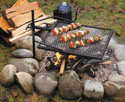 The Adjust-A-Grill offers you versatility and safety.