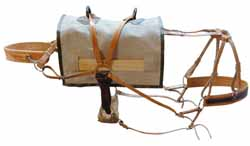 Outfitters Supply Decker Pack Saddle, fully rigged