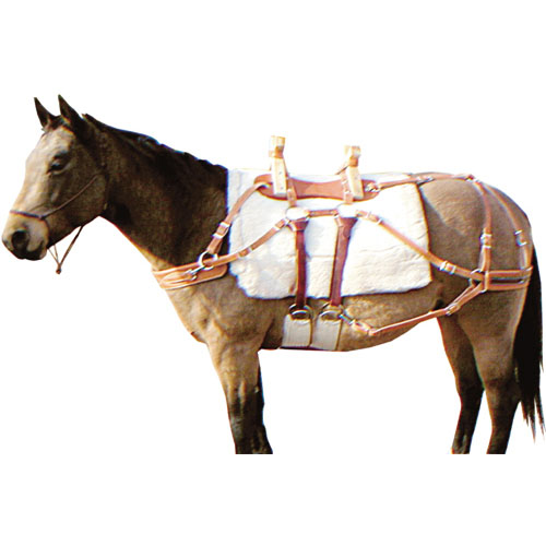 Outfitters Supply Sawbuck Pack Saddle, fully rigged