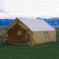 Montana Canvas Wall Tent in Montana Blend -- Canvas Roof with Tan Relite Walls & Outfitters Supply | Tack Saddles Packing u0026 Trail Riding ...