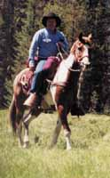 Moose was one of Russ' best trail horses.